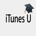 Image of mortarboard hat with with iTunes U text