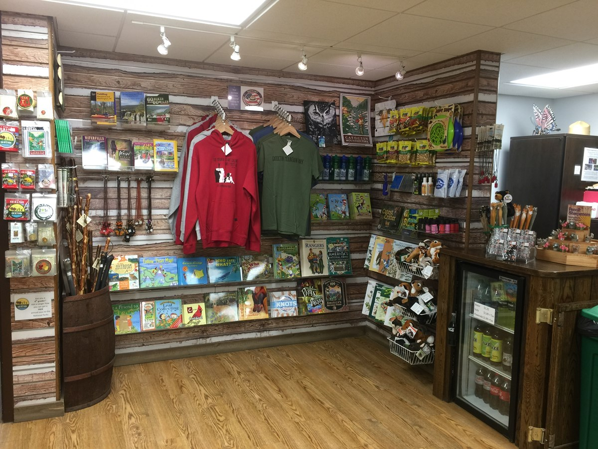 Bookstore items at Visitor Center