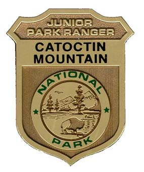 Catoctin Mountain Park Junior Ranger Badge.