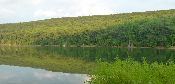 Hunting Creek Lake in adjacent Cunningham Falls State Park