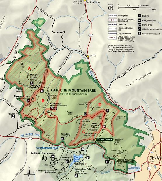 catoctin mountain park revises closure schedule feb8