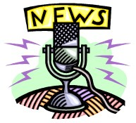 "Graphic of microphone with the word ""News"""