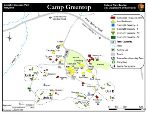 Image of Camp Greentop Map - Click to Enlarge