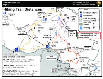 Image of CATO East Hiking Trail Blaze Map - Click to Enlarge