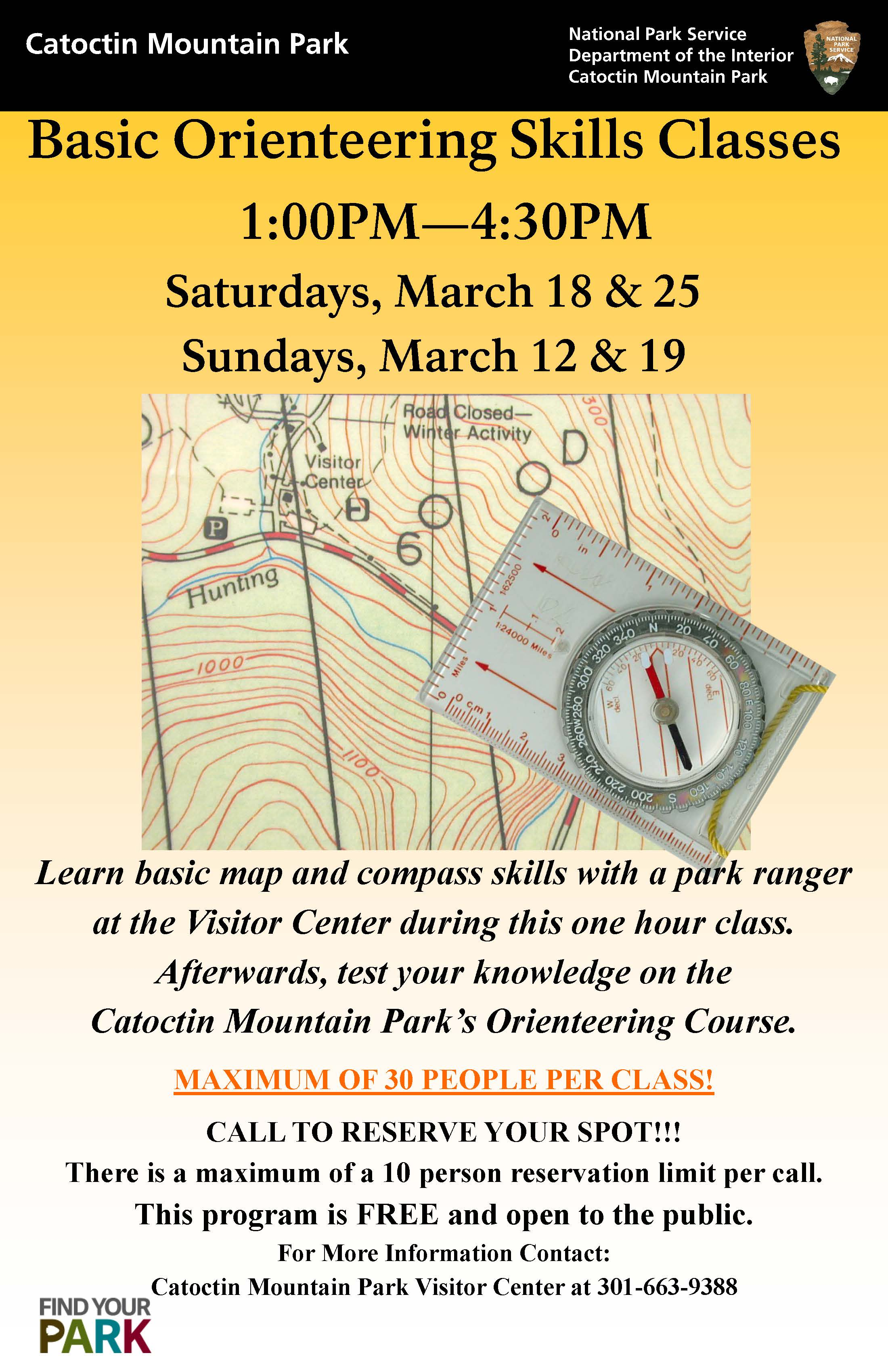 Image of March 2017 Orienteering Classes Poster