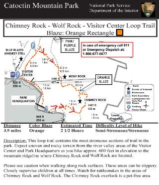 Image of VC - Chimney Rock - Wolf Rock Hiking Guide Click to Enlarge