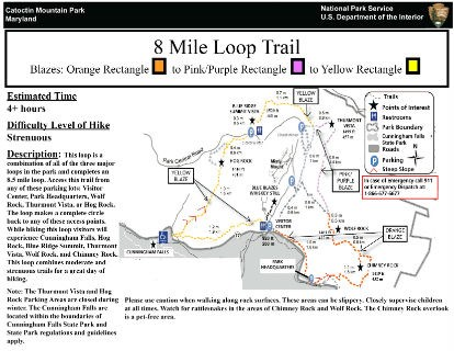 Image of 8 Mile Loop Hiking Guide Click to Enlarge