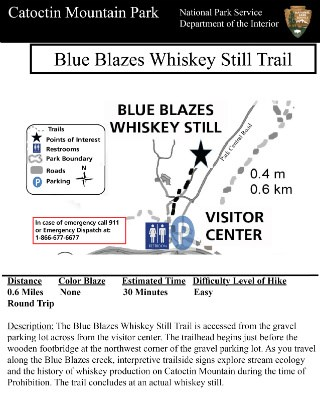 Image of Blue Blazes Trail Guide - Click to Enlarge