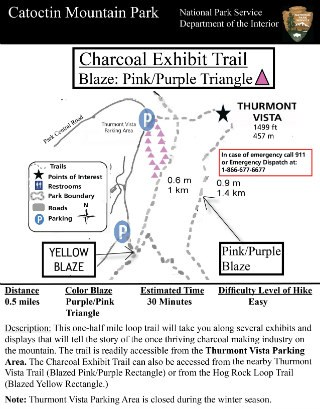 Image of Charcoal Trail hiking Guide - Click to Enlarge