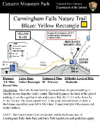 Image of Cunningham Falls Nature Trail Hiking Guide - Click to Enlarge