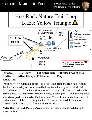Image of Hog Rock Nature Trail Hiking Guide - Click to Enlarge