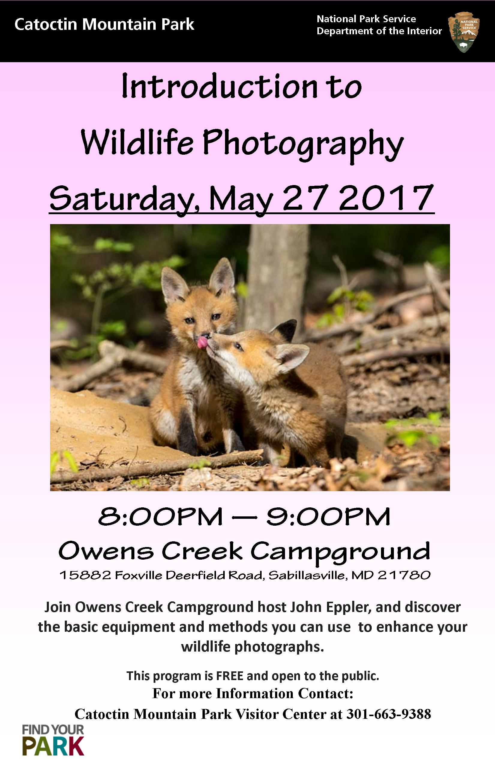Image of May 27  Intro to Basic Wildlife Photography Poster