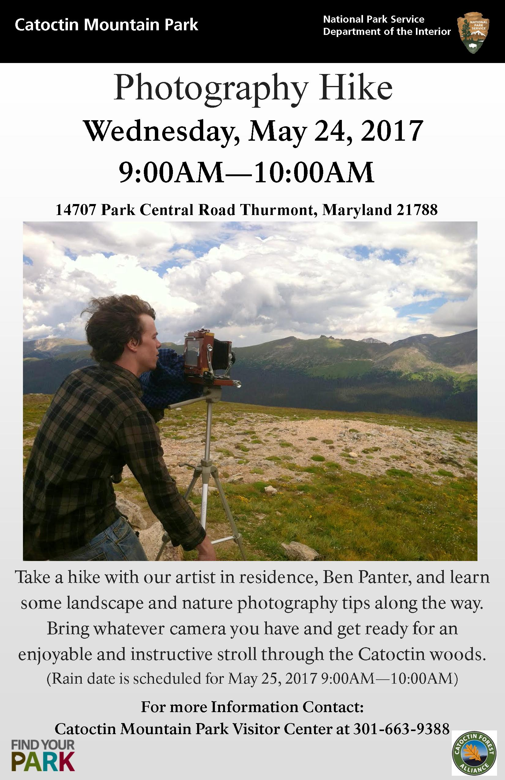 Image of May 24 photography hike poster