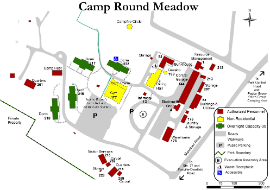 Image of Camp Round Meadow Map - Click to Enlarge