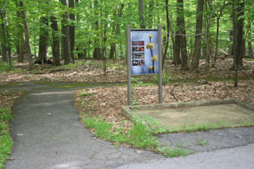 Spicebush trailhead showing accessible paving