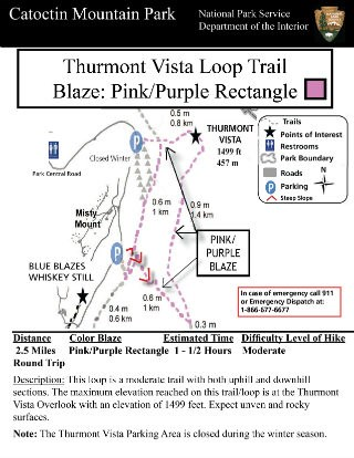 Image of Thurmont Vista Loop Trail Hiking Guide Click to Enlarge