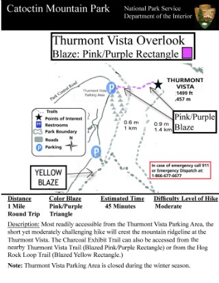 Image of Thurmont Vista Hiking Guide - Click to Enlarge