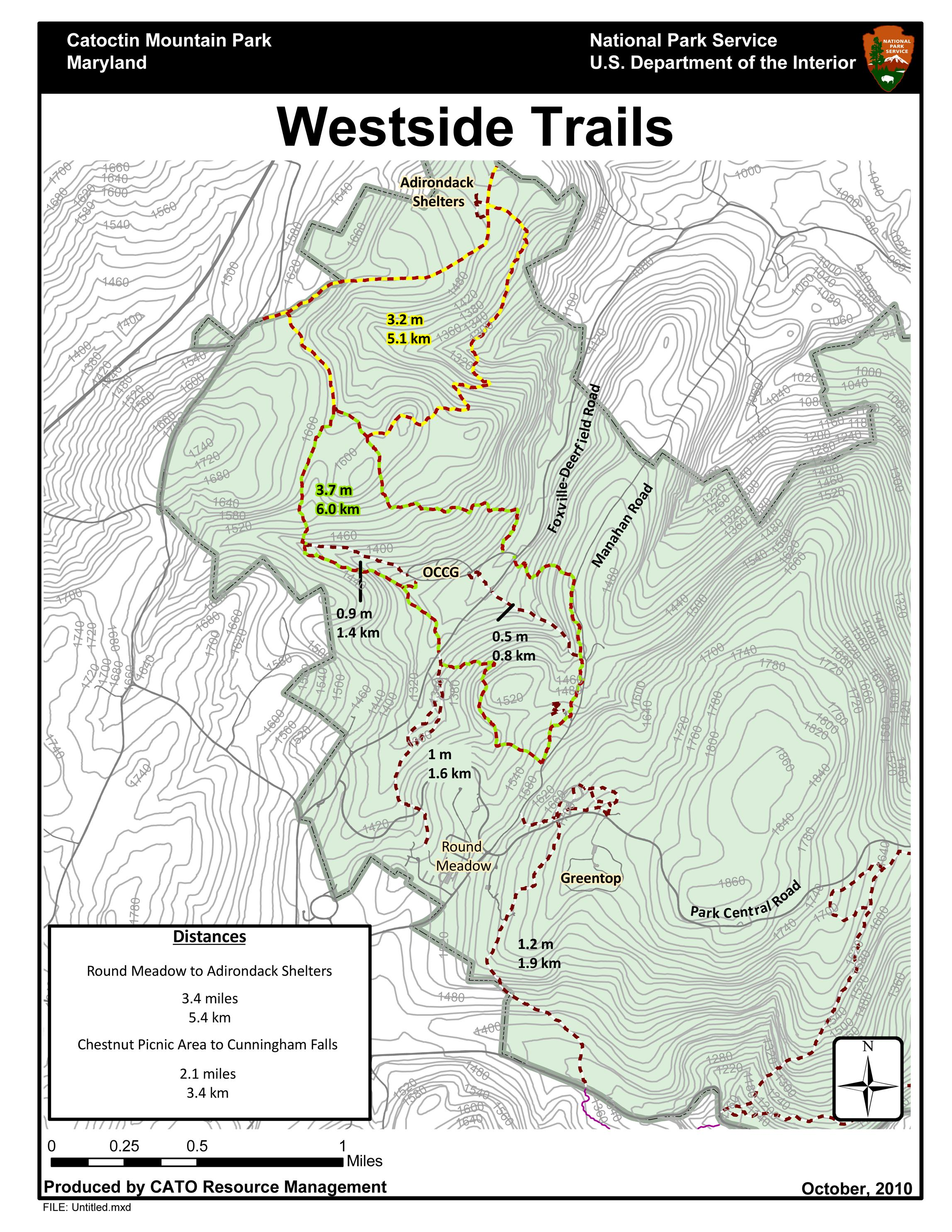 West Hiking Trails Catoctin Mountain Park US National Park