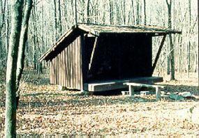 Front view of Adirondack Shelter