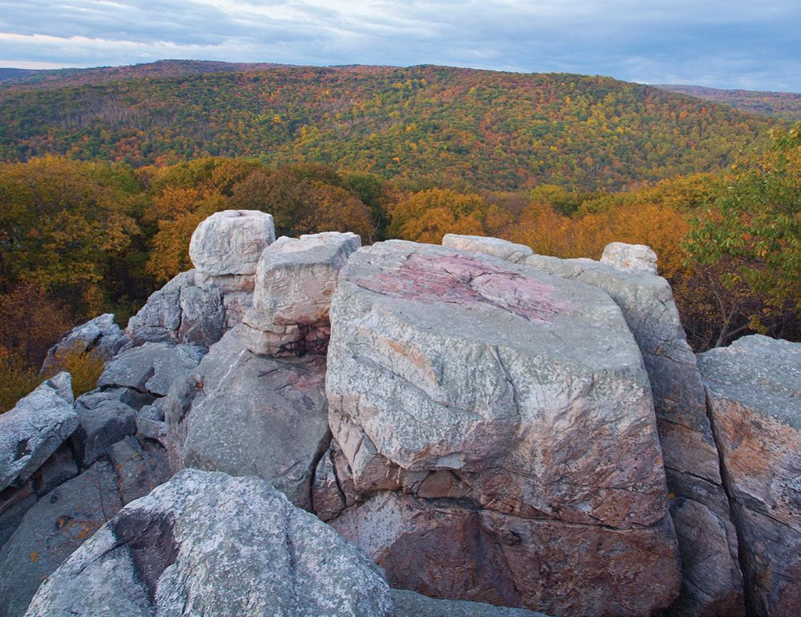 Image of Chimney Rock in the Fall Season