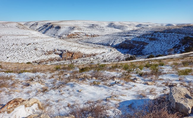 Snow in Walnut Canyon