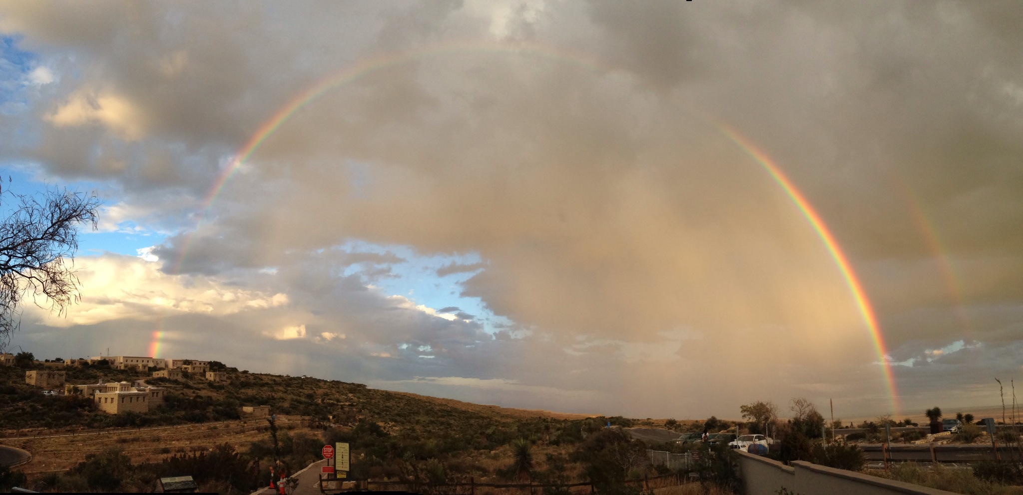 A Rainbow Behind the Visitor Center