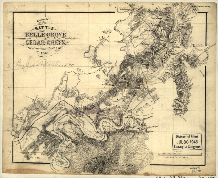 Shenandoah Valley Civil War Time Line Cedar Creek Belle Grove