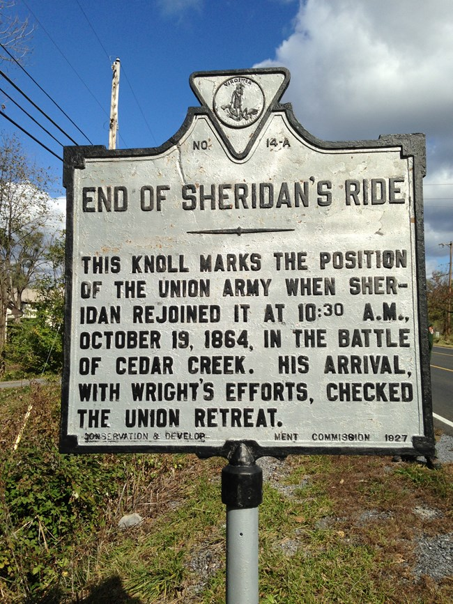 End of Sheridan's Ride Marker