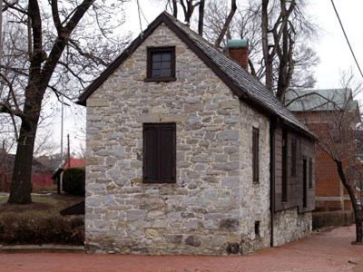 George Washington's stone office in Winchester, Virginia.