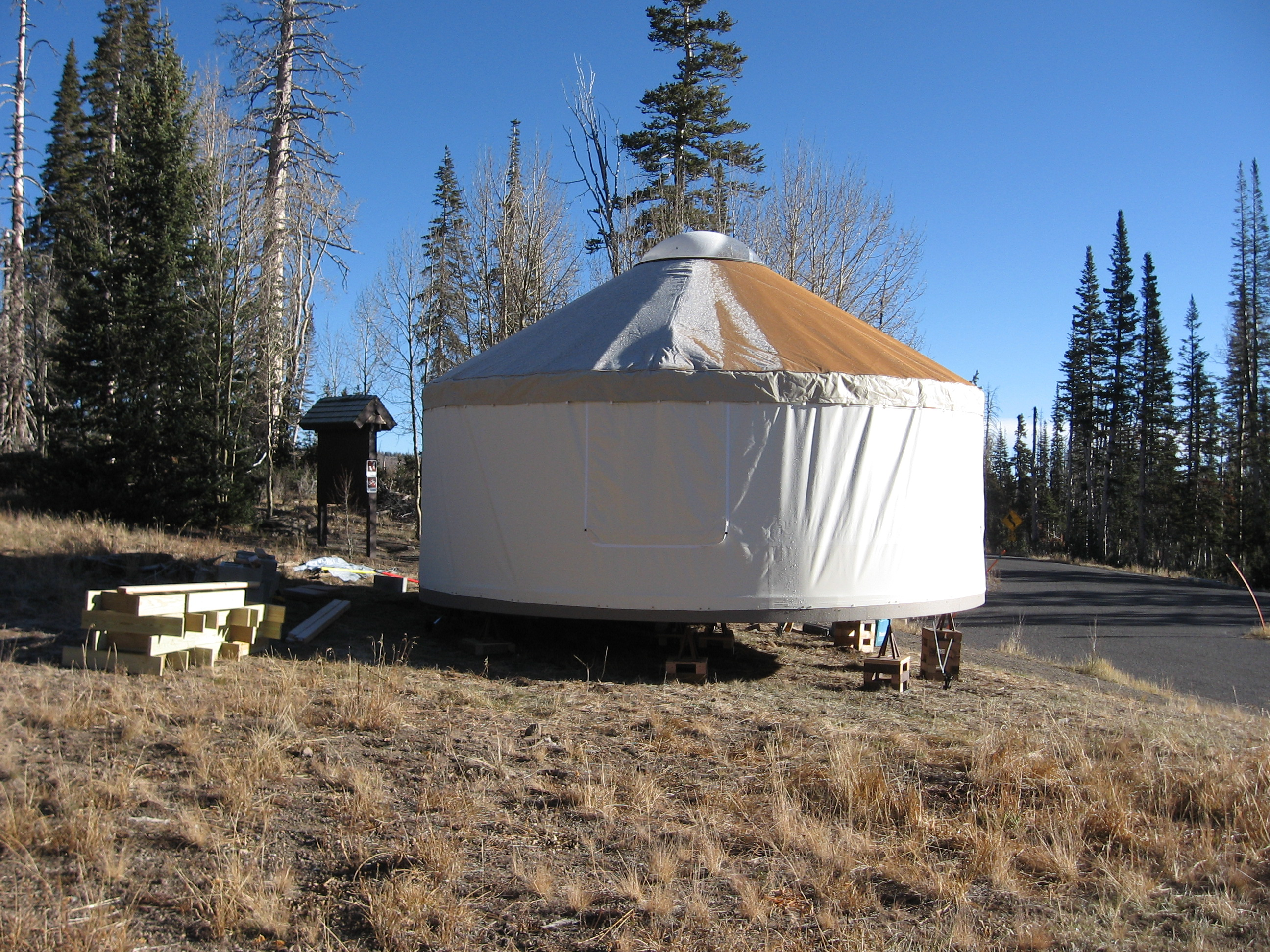 The assembled Yurt