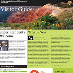 Small image of the front page of Cedar Breaks Visitors Guide