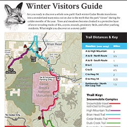 Clipping of Winter visitor guide, page 1.