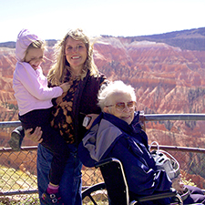 Grandmother & Family on Cedar Breaks Overlook