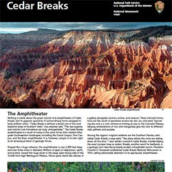 Section with photos of the Cedar Breaks Brochure