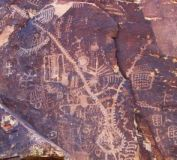 Zipper Petroglyph at Parowan Gap