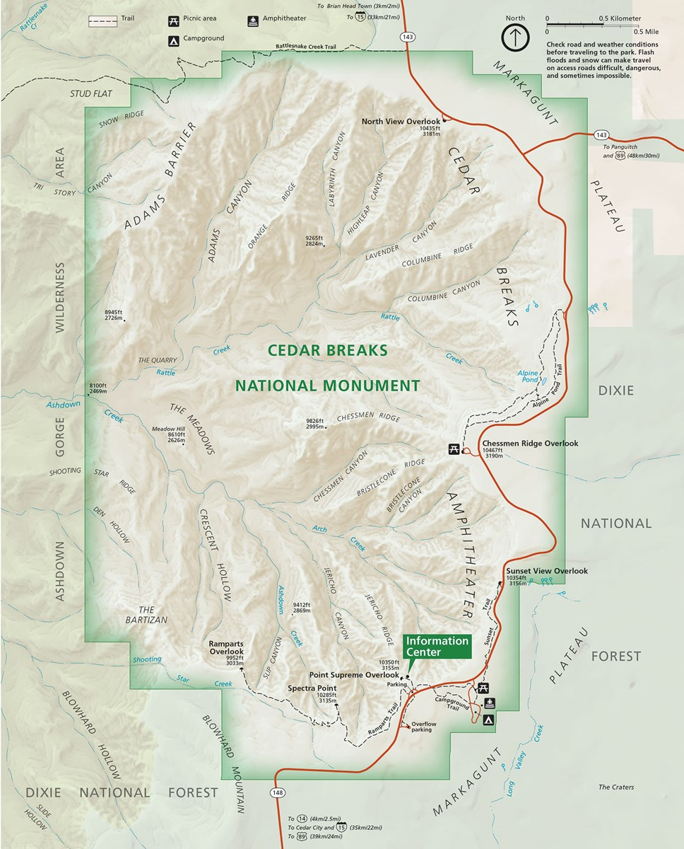 Maps Cedar Breaks National Monument Us National Park Service - Road-map-of-the-us