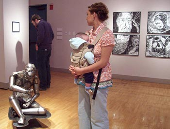 Family visiting gallery