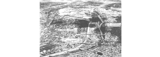 Historic photo of Juarez and El Paso