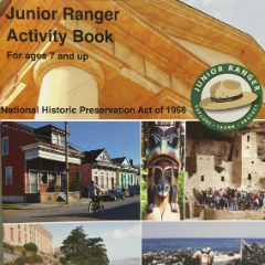 Cover page of Historic Preservation Junior Ranger book