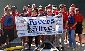 Rivers Alive Cleanup participants.