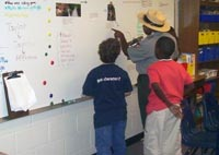 Ms. Dina making a point with some of her students during National Park Week.