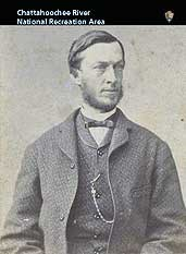 Black and white portrait of James Roswell King in business attire.