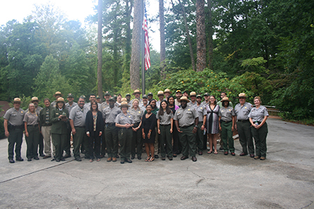 group photograph of park staff