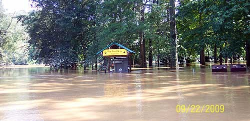 Paces Mill during flood of 2009.