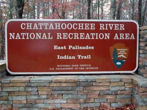 Old Style Entrance Sign at Palisades unit, Indian Trail entrance