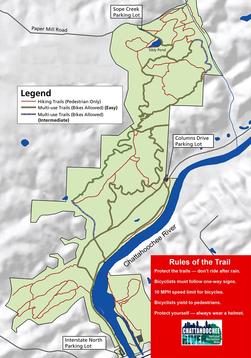 Sope Creek - Cochran Shoals Trail Use Map