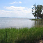 View of the James River from Black Point on Jamestown Island