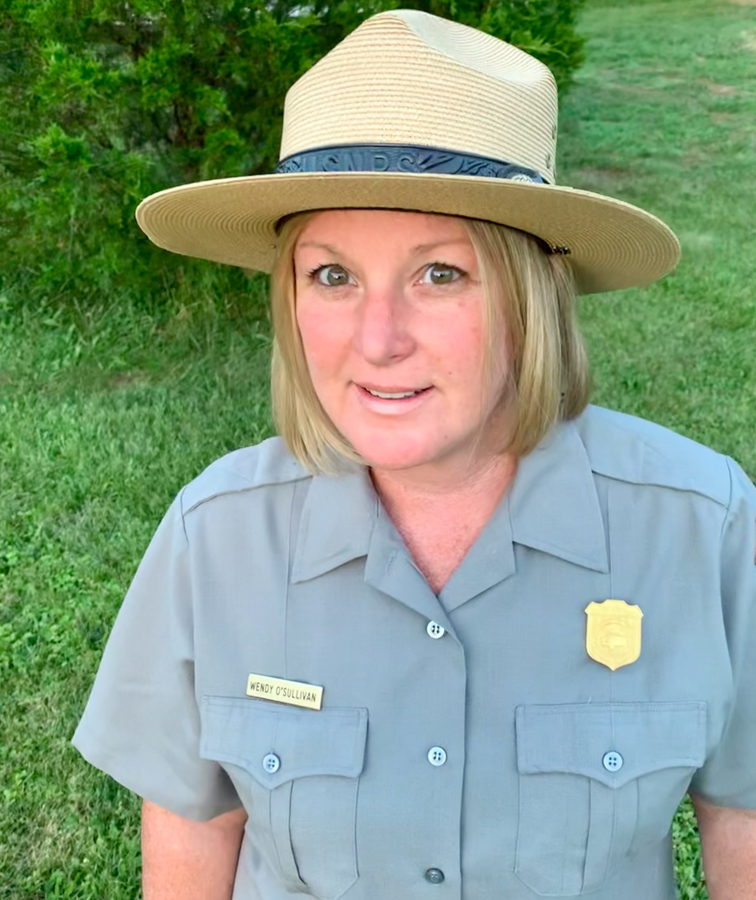 A woman in a National Park Service uniform