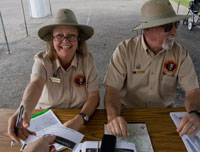 Volunteers assisting visitors during the 150th Anniversary programs in 2013.