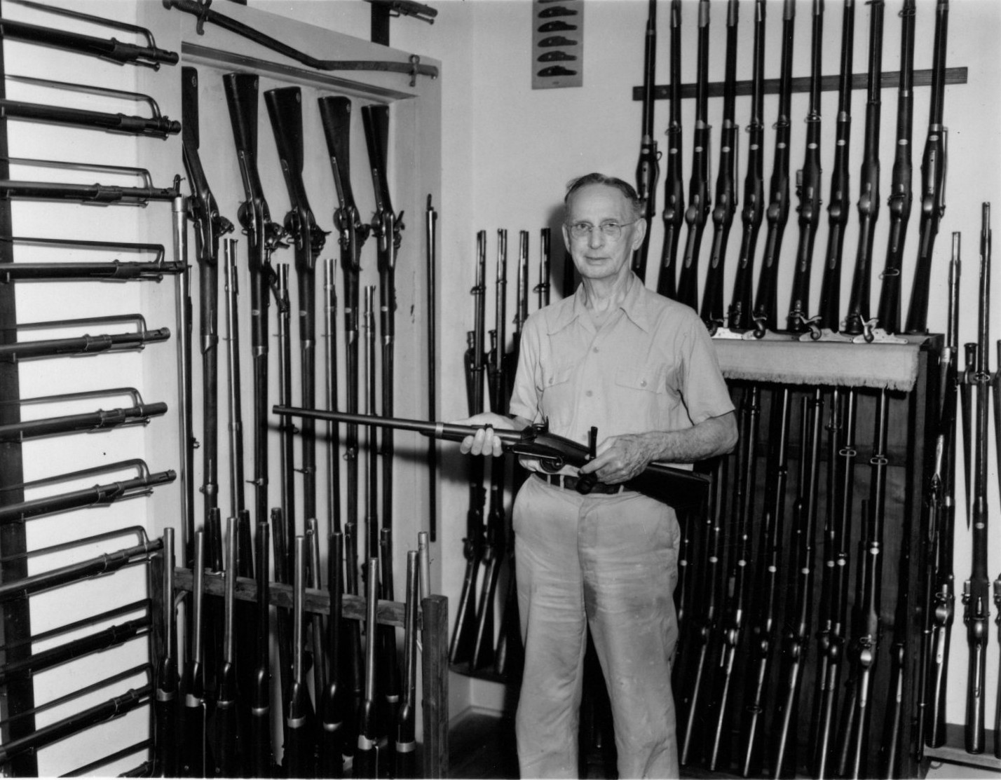 Claude Fuller with a few of his weapons
